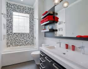 black white and red bathroom decorating ideas 5 easy bathroom makeover ideas