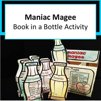maniac magee book report maniac magee project book in a bottle by
