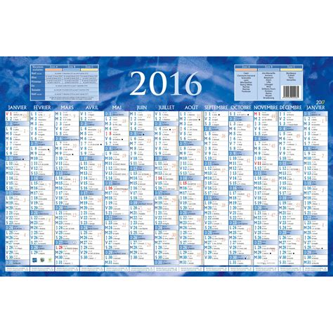 Calendrier 6 Mois 2016 Calendriers Bouchut Grandr 233 My Calendrier 2016 13 Mois 1