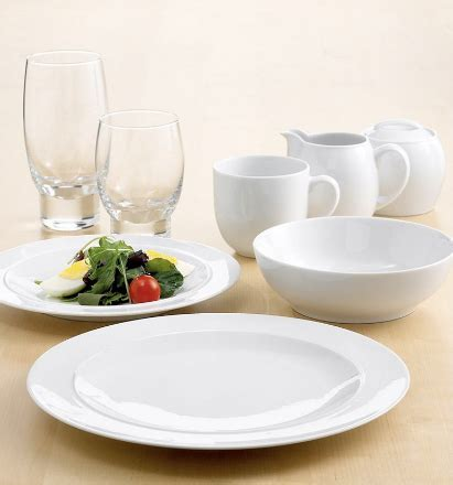 Wedding Registry China by Denby White Dinner Plates Denby White Classicly