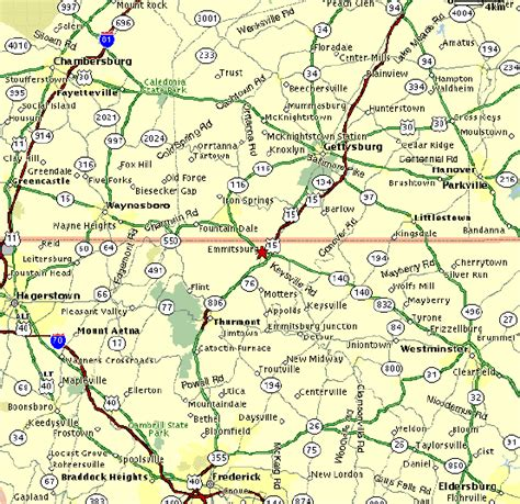 maryland map with county lines directions