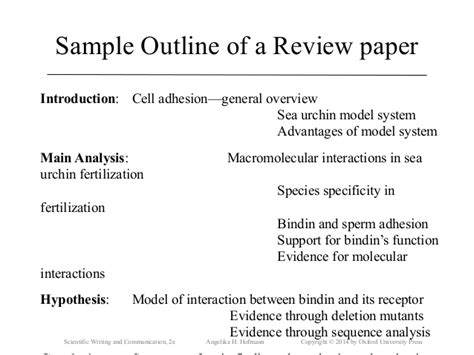how to write a scientific review paper sle ch18