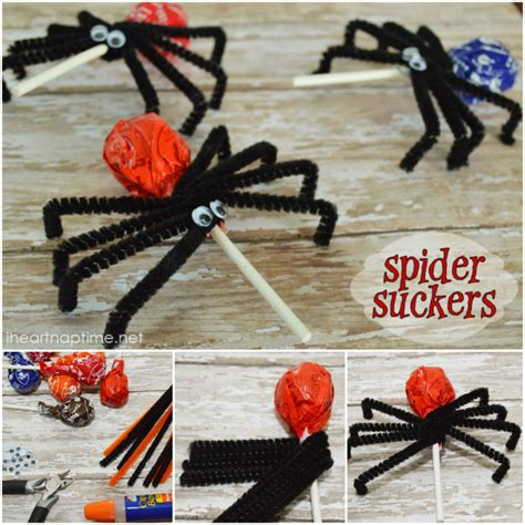 Halloween Kid Decorations - wonderful diy halloween lollipops spider suckers