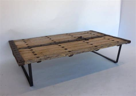 door coffee table rustic door coffee table at 1stdibs