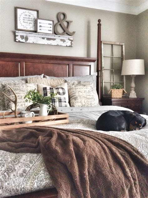 comfy bedroom with rustic modern decor idea mix the new mix of grey and brown with a little touch of rustic
