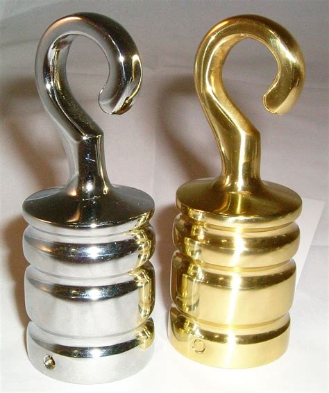 rope bannister end hook for 24mm rope chrome or brass