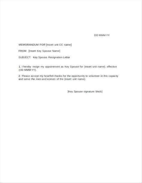Resignation Letter Spouse 43 resignation letters in doc free word format