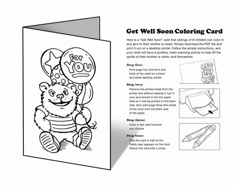 get well card coloring template printable get well soon coloring pages coloring home