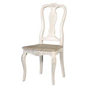 french cream oak shabby chic carved dining chair