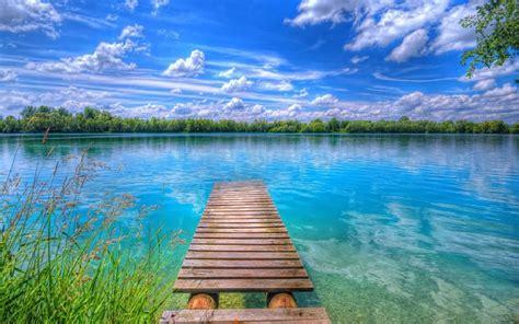 beautiful lake beautiful sky background beautiful nature lake blue sky with white