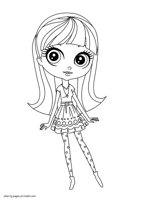 coloring pages vip pets blythe baxter coloring pages