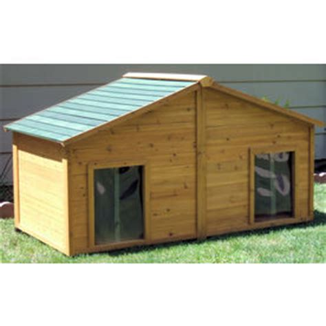 lowes dog house shop large cedar dog house at lowes com