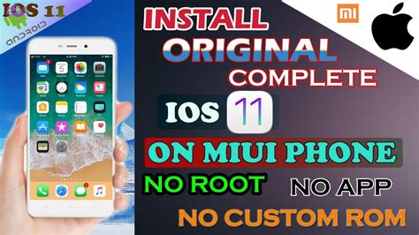 miui theme root install complete real ios 11 on miui redmi devices no