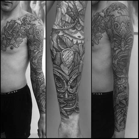 aztec tattoo sleeve aztec masks sleeve best ideas gallery