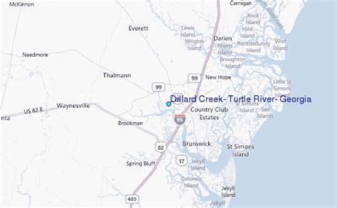 map of dillard dillard creek turtle river tide station location