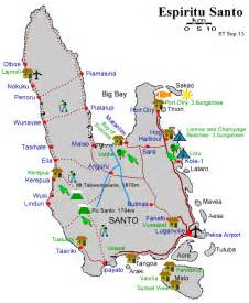 santo map images and places pictures and info santo vanuatu map