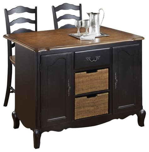 oak kitchen carts and islands oak and rubbed black kitchen island and two s