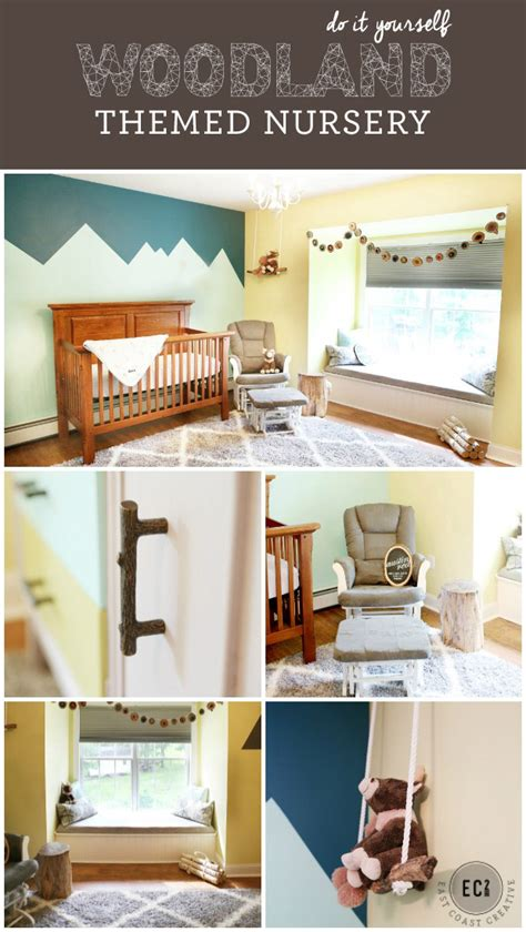 room themes diy woodland themed nursery makeover