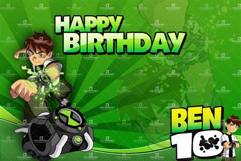 Ben 10 Birthday Invitation Cards Templates by Ben 10 Birthday Photoshop Template 171 Coldfiredsgn