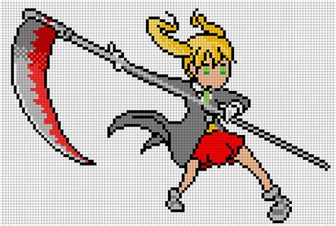 minecraft anime pixel templates maka from soul eater minecraft pixel ideas