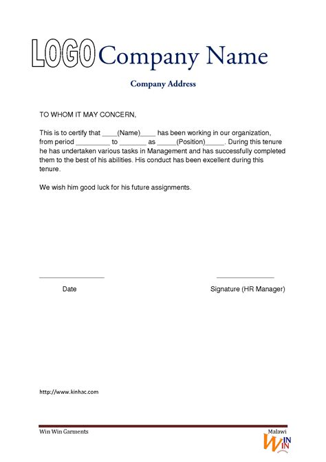 internship reference letter sample gallery letter format examples