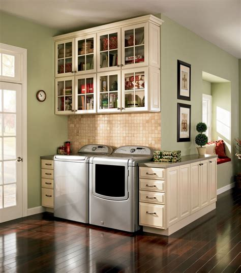 Painted Kitchen Cabinets Before And After Photos by Laundry Traditional Laundry Room Dc Metro By