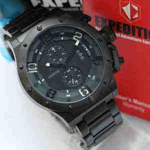 jual expedition e6381mc black steel index putih baru jam