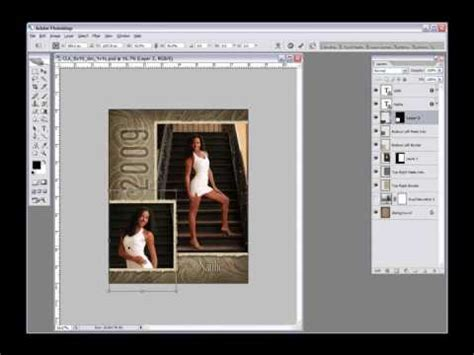 Photoshop Tutorial Adding Photos To Layered Templates In Photoshop Youtube How To Create A Template In