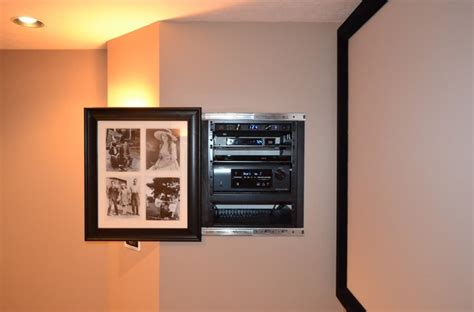 Unfinished Basement Lighting Ideas by Amazing Theater W Movie Poster Hiding Components