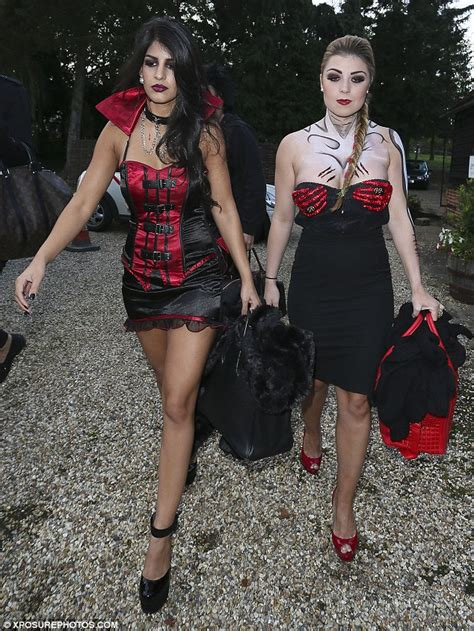 Halloween Costumes For Teens Towie S Abi Clarke Threatens To Spill Out Of Dangerously Low Cut Strapless Dress At Halloween