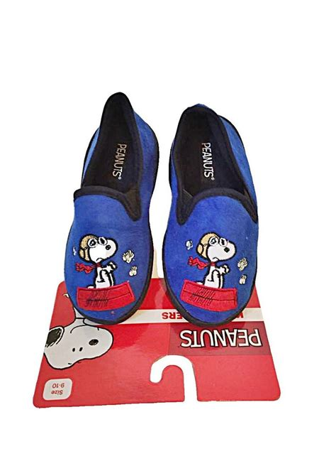 character house shoes snoopy character boys micro suede slippers house shoes s 5 6 royal blue kids whs
