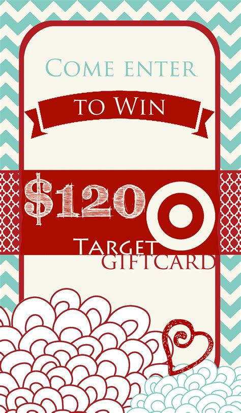 Target Giveaway - 120 target gift card giveaway one artsy mama