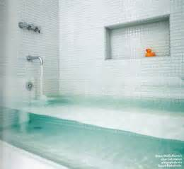 invisible bathtub ultra thin glass tub in rowhouse refab