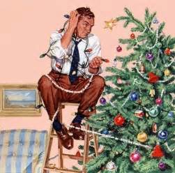 christmas norman rockwell painting artist rockwell