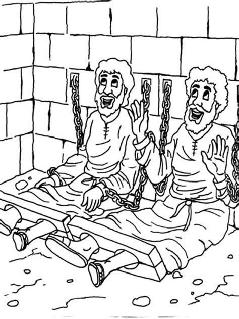 Church House Collection Blog Peter In Jail Coloring Page Paul Prison Pages For Free