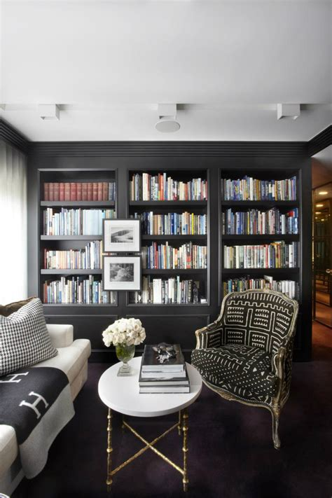 black built ins rooms that prove black built in bookcases are the next big