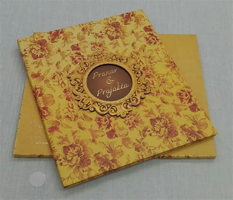 Wedding Invitation Cards Yellow by Yellow Floral Wedding Invitation Card