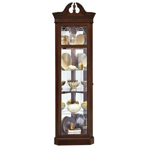 Curio Cabinets Dark Wood Corner Curio In Dark Wood 21525