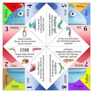 fortune teller template paperbelle origami feel like a kid basic base blintz