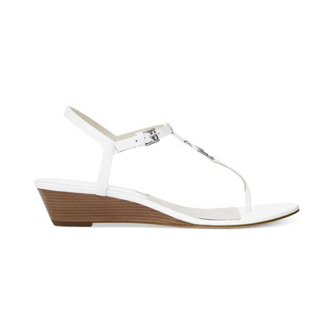 Wedges On 02 2 michael kors michael nora wedges in white lyst