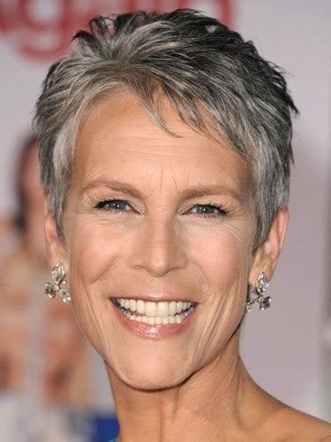 jamie lee curtis with silver hair classy and very short haircut ladies hairstyles 2018 jamie lee curtis hairstyle haircut