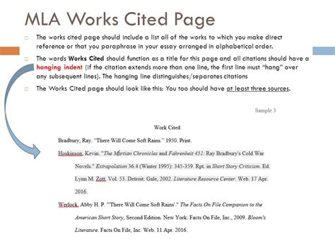 how do i write an mla formatted works cited page cwi