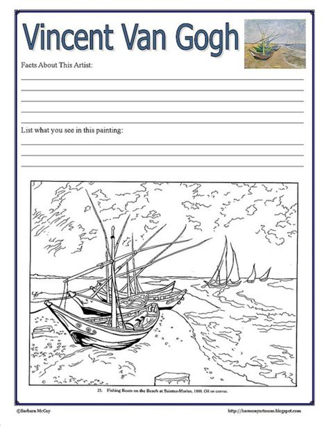 vincent gogh research paper 543 best images about worksheets printables on