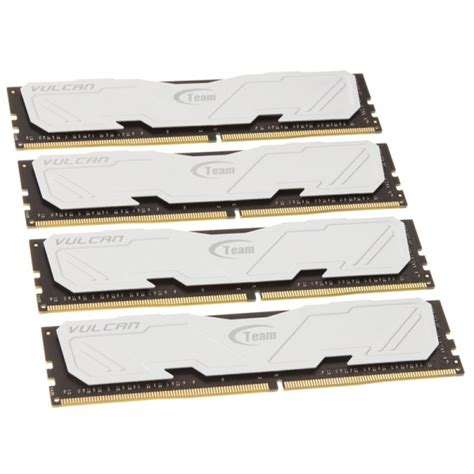 Memory Ram Team Vulcan Series Ddr4 16gb 2x8gb Murah 3 team vulcan series white ddr4 3000 cl16 16 gb kit metg 288 from wcuk
