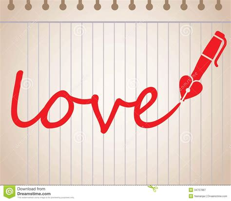 images of love written word love written with heart shaped fountain pen royalty