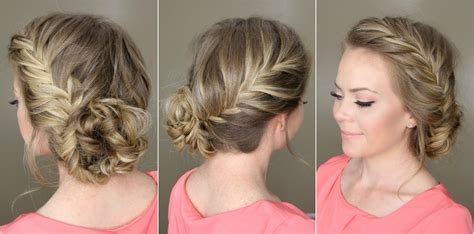 how to put braids into a bun fishtail french braid braided bun youtube