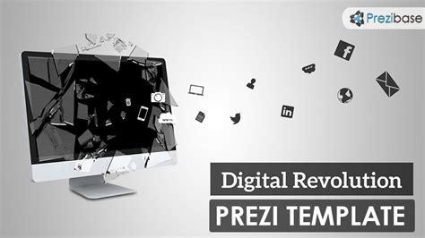 prezi template library prezi template with the concept of digital revolution and