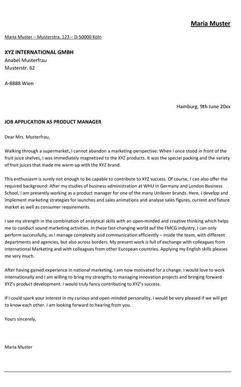 Anschreiben Muster Gehalt Anschreiben Berufserfahrener Fmcg Bewerbung Englisch