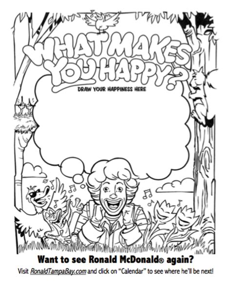 ronald mcdonald coloring pages coloring pages
