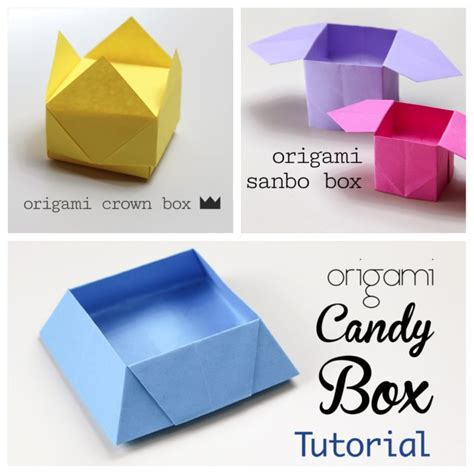 Simple Box Origami - 3 easy origami boxes photo paper kawaii